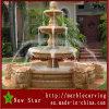 Fontana di acqua di scultura di pietra gialla per la decorazione (NS-P102)