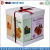 Cajas de papel kraft de snacks de fruta portátil cajas de regalo caja cuadrada Caja de regalo grandes cajas