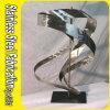 Sculpture abstraite en acier inoxydable sur mesure en métal