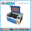 Tamanho mini 6040 50W couro máquina de gravação a laser de CO2
