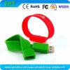 주문을 받아서 만들어진 로고 실리콘 플래시 메모리 지팡이 펜 USB 드라이브 (WB001)