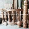 Aste della ringhiera di pietra/balaustra della scala del granito con il corrimano dell'inferriata