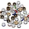 Granos hechos a mano del espaciador del Rondelle de la plata cristalina floja hecha a mano del Rhinestone
