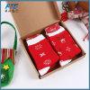 絶妙なギフト用の箱が付いているクリスマスの漫画の綿のソックス