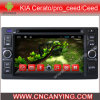 Reprodutor de DVD do carro para o reprodutor de DVD puro do Android 4.4car com a tela de toque capacitiva GPS do processador central A9 Bluetooth para KIA Cerato/Sportage/Sorento (AD-6211)