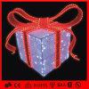 Decoración roja y blanca al aire libre acrílico caja de regalo de Navidad