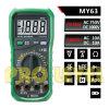 Multímetro digital das contagens do profissional 2000 (MY63)