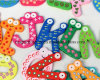 Magnete educativo sveglio variopinto del frigorifero del fumetto di EVA delle 26 lettere del giocattolo