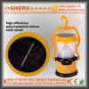 8 sortie campante actionnée solaire de la torche USB de la lampe 1W de DEL