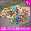 2015 nuovo Wooden Intellectual Puzzle, puzzle Puzzle di Popular Magnetic per Children, puzzle Puzzle W14A111 di Best Sell Cartoon Plain