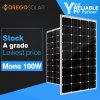Moregosolar un panneau solaire monocristallin qualifié par pente du module 100W avec Mme Series des prix les plus inférieurs
