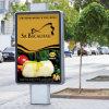 알루미늄 가벼운 상자를 광고하는 도로 시설물