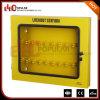 Caixas personalizadas fabricante do fechamento de Yelllow da placa de aço de Elecpopular com indicador visível