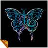 Тенниски мотива Rhinestone бабочки прямой связи с розничной торговлей фабрики (SP)