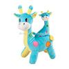 Giocattolo sveglio della giraffa di canto della peluche tessuto ecologico giocattolo divertente del bambino del giocattolo