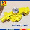 Bomba de água de PC200-6 6D95 para o motor Diesel de Kumatsu