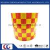 Roter/gelber Rasterfeld-Entwurfs-reflektierendes Augenfälligkeit-Band (C3500-G)
