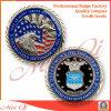 Монетка армии эмали сувенира промотирования трудная с краем диаманта