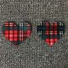 Пусковые площадки бюстгальтера крышки ниппели силикона красной шотландки Heart-Shaped