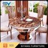 بيتيّة أثاث لازم [دين تبل] محدّدة [بروون] طاولة مستديرة رخاميّ