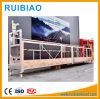 Chargement de conteneur élevées nettoyage travail plate-forme suspendue en aluminium