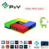 T95k PRO Amlogic S912 Android TV Box Kodi double bande de base de l'Octa WiFi Bt 4.0 Uhd 4k9 HDR H. 265 VP 3D Media Player