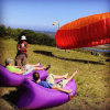 Venta caliente rápida Inflatable en forma de U cuadrados de aire de cabeza saco de dormir