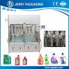 máquina de rellenar líquida del pistón detergente automático de la loción 1-5L para las botellas