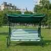 3 Lugares cadeira de balanço de jardim de lazer com pequena máquina de chá