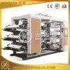 6 máquina de impressão Flexographic da película da cor PP/PE/Pet
