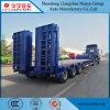 Lowbed semi remorque de camion véhicule spécial avec l'échelle hydraulique