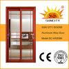 Porte extérieure à finition en aluminium de style populaire à prix avantageux (SC-AA66)