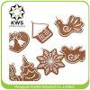 Árvore de Natal de suspensão Hangingornament de Dro da argila do polímero da decoração dos flocos de neve do ornamento