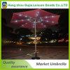 9FT paraguas de jardín de aluminio al aire libre con luz LED
