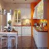 Gabinete de cozinha elegante da madeira contínua do projeto