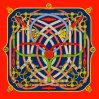 Custom цифровой печати 100% шелковые шарфы (F13-0016)