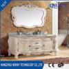 ミラーが付いている熱い販売の純木の骨董品のホーム浴室用キャビネット