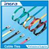 Быстрое изготовление связей кабеля нержавеющей стали 4.6X400 поставки покрынное PVC