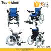 Cadeira de rodas padrão de alumínio da energia eléctrica de Topmedi Folable