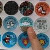 Material de PVC personalizado de colores etiqueta de impresión de forma redonda