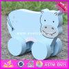 2017 Venda por grosso de madeira do bebé carros de brinquedos de madeira para crianças de alta qualidade Toy Cars Melhor Design Madeira Animal Toy Cars W04A317