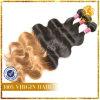La extensión del pelo de Remy del pelo del color T cuerpo de la trama Virgen de la onda (TFH-NL0031)