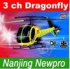 hélicoptère de la libellule 3 ch RC de mouche de 43cm (9090A)