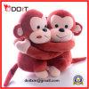 Animal se reposant de singe de jouet de cadeau de Valentines de peluche