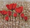 装飾的な花の油絵(ADA9690)