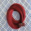 Extensão lisa do cabelo da ponta de Prebonded do cabelo humano de cor vermelha