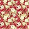 뜨개질을 한 직물에 있는 폴리에스테 직물/Breatherable에 의하여 솔질되는 직물/폴리에스테 직물을 인쇄하는 빨간 꽃