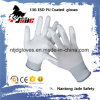 13GナイロンまたはカーボンファイバーのやしPUによって塗られるESD作業手袋