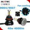 Poder superior H/L H4 H13 9004 farol do diodo emissor de luz de 9007 automóveis