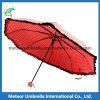 Paraguas promocional del doblez de las señoras del tablero del cordón de la buena calidad